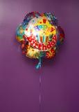 Μπαλόνι γενέθλια ευτυχή Στοκ Εικόνα