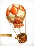 Μπαλόνι ζεστού αέρα, διανυσματικό εικονίδιο ελεύθερη απεικόνιση δικαιώματος
