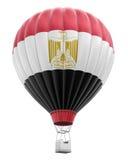 Μπαλόνι ζεστού αέρα με την αιγυπτιακή σημαία (πορεία ψαλιδίσματος συμπεριλαμβανόμενη) Στοκ φωτογραφίες με δικαίωμα ελεύθερης χρήσης