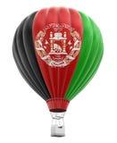 Μπαλόνι ζεστού αέρα με την αφγανική σημαία (πορεία ψαλιδίσματος συμπεριλαμβανόμενη) Στοκ Εικόνες