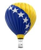 Μπαλόνι ζεστού αέρα με τη σημαία Βοσνίας-Ερζεγοβίνης (πορεία ψαλιδίσματος συμπεριλαμβανόμενη) Στοκ εικόνες με δικαίωμα ελεύθερης χρήσης