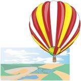 Μπαλόνι ζεστού αέρα/πιό montgolfier διάνυσμα Στοκ Εικόνες