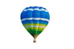 Μπαλόνι ζεστού αέρα που απομονώνεται στο λευκό Στοκ Εικόνες