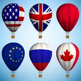 Μπαλόνι ζεστού αέρα απεικόνιση αποθεμάτων