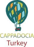 Μπαλόνι σε Cappadocia, Τουρκία Στοκ εικόνα με δικαίωμα ελεύθερης χρήσης