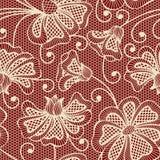 Μπεζ άνευ ραφής σχέδιο λουλουδιών Στοκ φωτογραφία με δικαίωμα ελεύθερης χρήσης