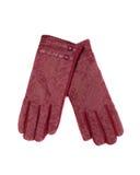 Μπεζ γάντια δέρματος Στοκ φωτογραφία με δικαίωμα ελεύθερης χρήσης