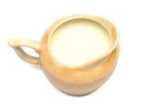 μπεζ γάλα κανατών Στοκ φωτογραφία με δικαίωμα ελεύθερης χρήσης