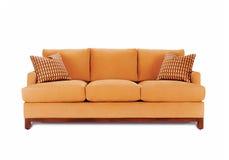 Μπεζ καναπές Στοκ φωτογραφία με δικαίωμα ελεύθερης χρήσης