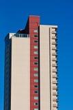 μπεζ μπλε κόκκινη πλευρά condo Στοκ Εικόνες