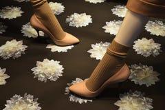 μπεζ παπούτσια Στοκ φωτογραφία με δικαίωμα ελεύθερης χρήσης