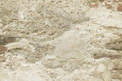 Μπεζ σύσταση υποβάθρου τοίχων πετρών Στοκ Φωτογραφίες