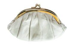 Μπεζ τσάντα Στοκ Φωτογραφία