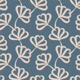 μπεζ floral πρότυπο άνευ ραφής Στοκ Φωτογραφίες