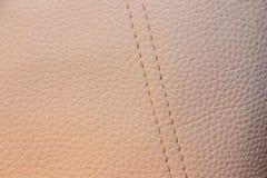 Μπεζ mit Linien Kunstleder Textur Στοκ Φωτογραφίες