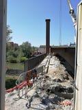 Μπενεβέντο - μια αναλαμπή του εργοτάξιου οικοδομής γεφυρών Ponte Στοκ Εικόνα