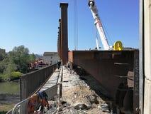 Μπενεβέντο - μια αναλαμπή του εργοτάξιου οικοδομής στο Ponte Sabato Στοκ φωτογραφίες με δικαίωμα ελεύθερης χρήσης