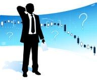 Μπερδεμένος επιχειρηματίας διανυσματική απεικόνιση