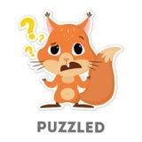 μπερδεμένος σκίουρος απεικόνιση αποθεμάτων