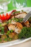 μπιζέλια φούρνων κοτόπου&lambda Στοκ Εικόνες