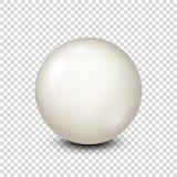 Μπιλιάρδο, άσπρη σφαίρα λιμνών για το σνούκερ ανασκόπηση διαφανής επίσης corel σύρετε το διάνυσμα απεικόνισης διανυσματική απεικόνιση