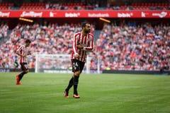 ΜΠΙΛΜΠΑΟ, ΙΣΠΑΝΙΑ - 18 ΣΕΠΤΕΜΒΡΊΟΥ: Mikel Balenziaga, αθλητικός παίκτης του Μπιλμπάο, στην αντιστοιχία μεταξύ του αθλητικού ΘΦ το Στοκ Φωτογραφία