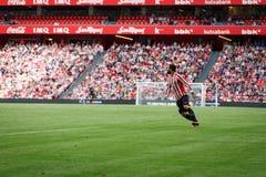 ΜΠΙΛΜΠΑΟ, ΙΣΠΑΝΙΑ - 18 ΣΕΠΤΕΜΒΡΊΟΥ: Mikel Balenziaga, αθλητικός παίκτης του Μπιλμπάο, στην αντιστοιχία μεταξύ του αθλητικού ΘΦ το Στοκ Εικόνες