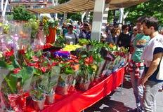 ΜΠΙΛΜΠΑΟ, ΙΣΠΑΝΙΑ, ΣΤΙΣ 31 ΜΑΐΟΥ 2015: Λουλούδια για την πώληση Στοκ φωτογραφία με δικαίωμα ελεύθερης χρήσης