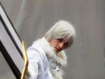 ΜΠΙΛΜΠΑΟ, ΙΣΠΑΝΙΑ - 27 ΦΕΒΡΟΥΑΡΊΟΥ: Ένα μη αναγνωρισμένο ιαπωνικό anime cosplay θέτει σε ΙΙΙ Σαββατοκύριακο Μπιλμπάο της Ιαπωνίας Στοκ εικόνες με δικαίωμα ελεύθερης χρήσης