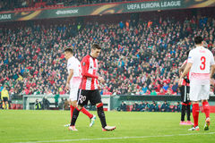 ΜΠΙΛΜΠΑΟ, ΙΣΠΑΝΙΑ - ARPIL 7: Aritz Aduriz στην αντιστοιχία μεταξύ του αθλητικών Μπιλμπάο και της Σεβίλλης στην ένωση UEFA Ευρώπη, Στοκ Φωτογραφία