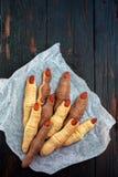 Μπισκότα αποκριών όπως τα δάχτυλα Στοκ εικόνες με δικαίωμα ελεύθερης χρήσης