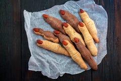 Μπισκότα αποκριών όπως τα δάχτυλα Στοκ Φωτογραφίες