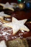 Μπισκότα αστεριών Χριστουγέννων Στοκ εικόνα με δικαίωμα ελεύθερης χρήσης