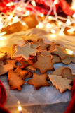 Μπισκότα αστεριών Χριστουγέννων Στοκ φωτογραφία με δικαίωμα ελεύθερης χρήσης
