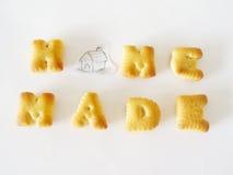 Μπισκότα αλφάβητου Στοκ Φωτογραφία