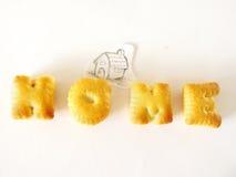 Μπισκότα αλφάβητου Στοκ Εικόνες
