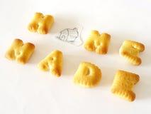 Μπισκότα αλφάβητου Στοκ εικόνα με δικαίωμα ελεύθερης χρήσης