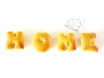 Μπισκότα αλφάβητου Στοκ εικόνες με δικαίωμα ελεύθερης χρήσης