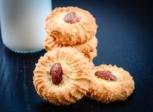 Μπισκότα βουτύρου και αμυγδάλων Στοκ εικόνες με δικαίωμα ελεύθερης χρήσης