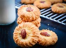 Μπισκότα βουτύρου και αμυγδάλων Στοκ Εικόνα