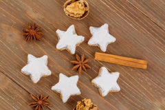Μπισκότα για τα Χριστούγεννα Στοκ Εικόνες