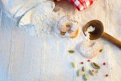 Μπισκότα για Christmastime Στοκ Εικόνες