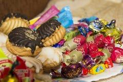 Μπισκότα, γλυκά Στοκ εικόνες με δικαίωμα ελεύθερης χρήσης