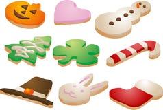 μπισκότα εορταστικά Στοκ Εικόνες
