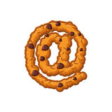 Μπισκότα επιστολών σημαδιών ηλεκτρονικού ταχυδρομείου Πηγή μπισκότων Oatmeal μπισκότο alphabe ελεύθερη απεικόνιση δικαιώματος