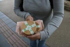 Μπισκότα ελαφιών στο πάρκο του Νάρα Στοκ Φωτογραφίες