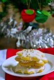 Μπισκότα ζάχαρης Χριστουγέννων Στοκ Φωτογραφίες