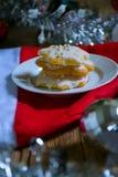 Μπισκότα ζάχαρης Χριστουγέννων Στοκ Εικόνες