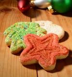 Μπισκότα ζάχαρης Χριστουγέννων Στοκ εικόνες με δικαίωμα ελεύθερης χρήσης