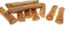 Μπισκότα ζύμης ριπών απομονωμένο στο λευκό υπόβαθρο στοκ εικόνες